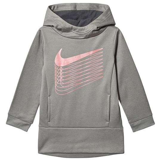 NIKE Logo Huvtröja Dark Grey Heather 042