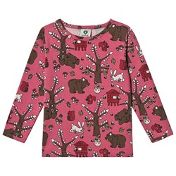 Småfolk Woodland Cratures Long Sleeve Tee Rapture Rose