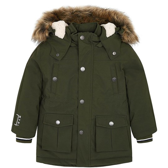Mayoral Hooded Parka Khaki 67
