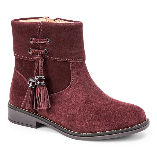 Mayoral Tassle Detail Leather Ankle Boots Burgundy 57