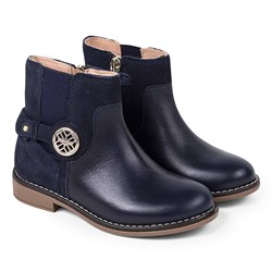 Mayoral Leather Chelsea Boots Navy