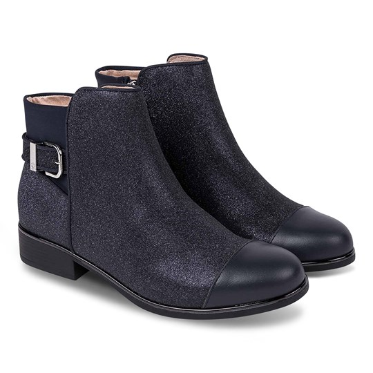 Mayoral Glitter Buckle Detail Ankle Boots Navy 61
