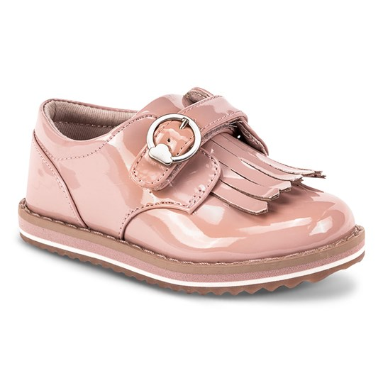 Mayoral Frill Detail Velcro Strap Brogues Shoes Pink 72