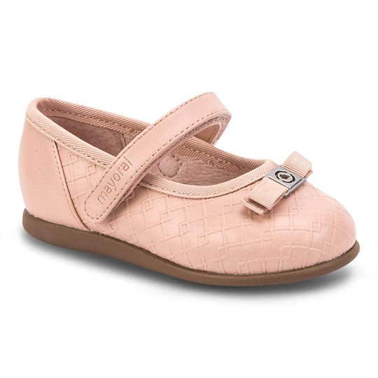 Mayoral Mary Jane Shoes with Bow Pink 15