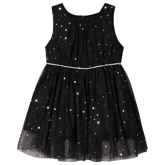 Jocko Baby Dress with Silver Dots Black Black