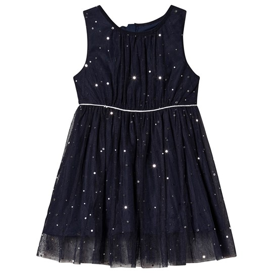 Jocko Formal Dress with Silver Dots Navy Navy