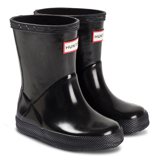 Hunter Kids First Classic Rain Boots Black Black