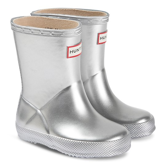 Hunter Kids First Classic Rain Boots Silver Silver