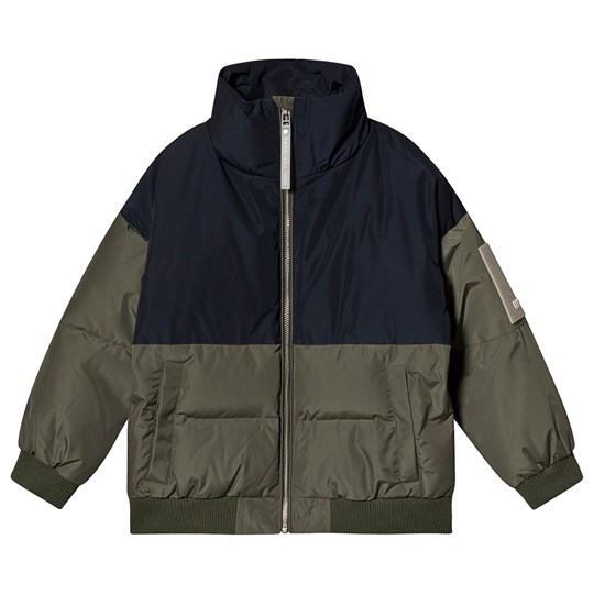 Unauthorized Chad Down Jacket Khaki and Navy Beetle