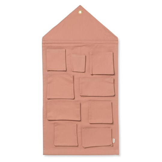 ferm LIVING House Wall Storage - Dusty Rose Dusty Rose