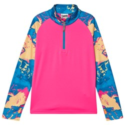 Spyder Printed Limitless Surface 1/2 Zip Base Layer Top Pink/Blue