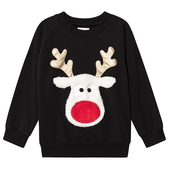 Wauw Capow Red Nose Sweatshirt Black Black