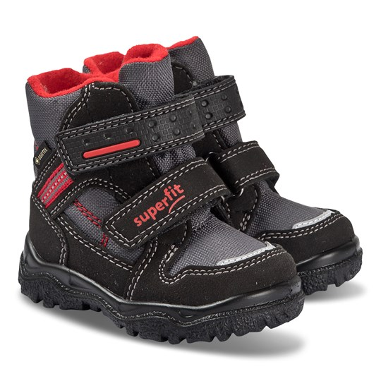 Superfit Husky Boots Black and Red Black/red
