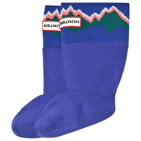 Hunter Electric Storm Kids Knitted Cuff Boot Sock ELECTRIC STORM