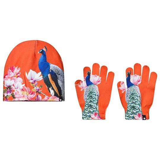 Molo Kaya Beanie and Gloves Set Majestic Peacock Majestic Peacock