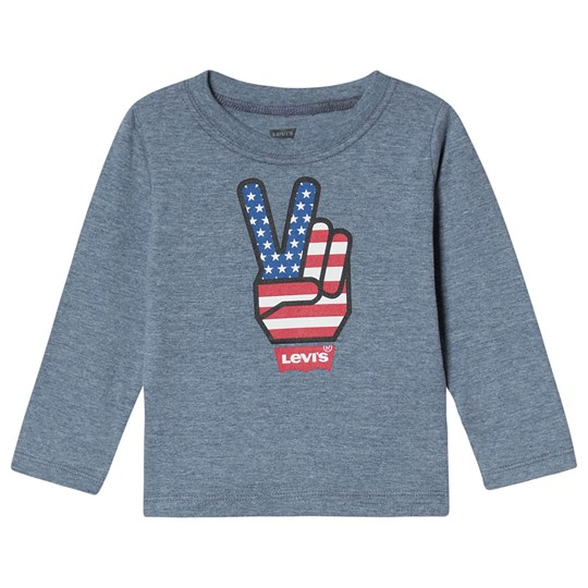 Levis Kids Peace Long Sleeve Tee Blue B38