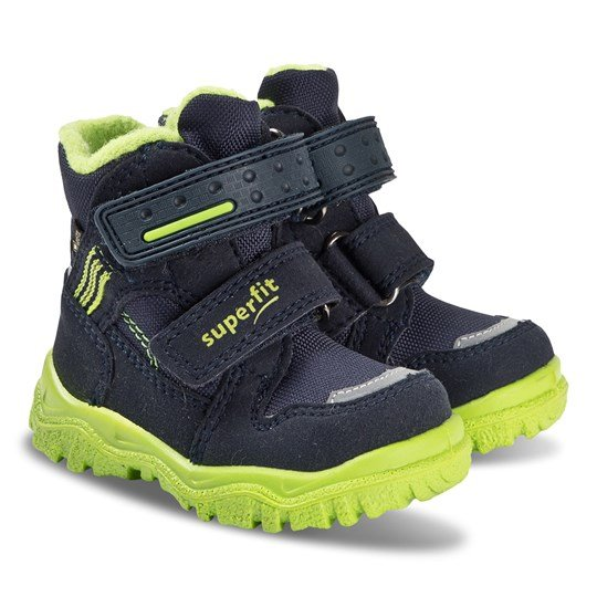 Superfit Husky Boots Navy and Green Blue/Green
