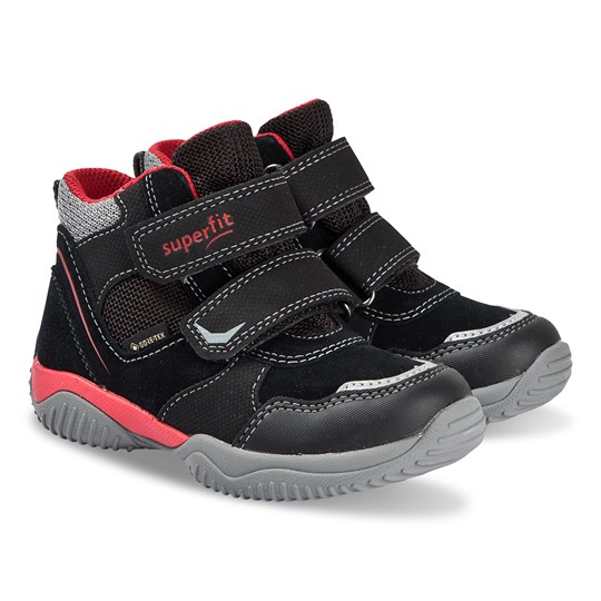 Superfit Storm Shoes Black and Red Black/red