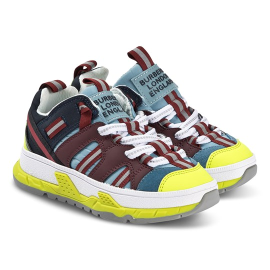 Burberry Technical Sneakers Red/Neon Blue
