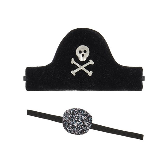 Mimi & Lula Pirate Hat and Eye Patch Set Navy 03