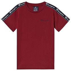 Champion Taped Sleeve T-Shirt Red