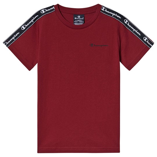 Champion Taped Sleeve T-Shirt Red TRD