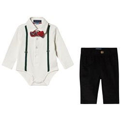 Andy & Evan 2-Piece Set Pants and Baby Body with Bow Tie