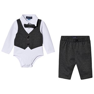 Bilde av Andy & Evan 2-piece Set Pants And Baby Body With Bow Tie And Waistcoat 12-18 Months