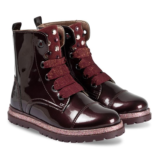 Primigi Burgundy Ribbon Lace Glamour Boot MOSTO