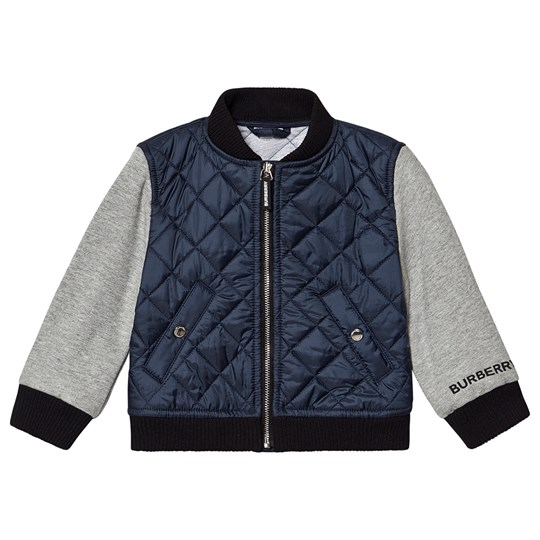 Burberry Diamond Quilted Jacket Navy/Grey Grey Melange