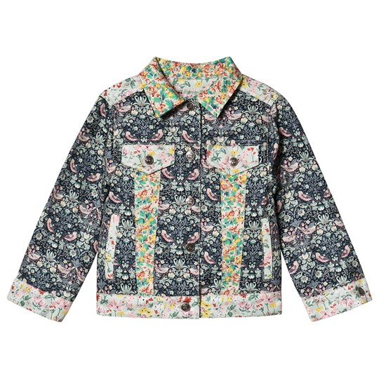 Bonpoint Floral Liberty Denim Jakke Blå 980
