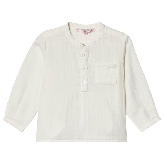 Bonpoint Mandarin Collar Shirt Off White 002