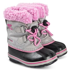 Sorel Children's Yoot Pac™ Snow Boots Chrome/Grey Orchid