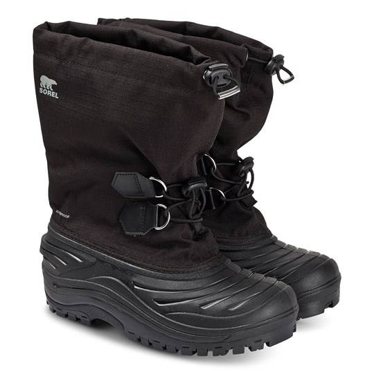 Sorel Youth Super Trooper™ Snow Boots Black/Light Grey Black Light Grey