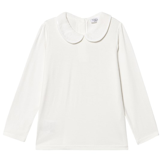 Hust&Claire Alberte Long Sleeve T-Shirt Ivory Ivory