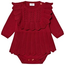 Hust&Claire Magie Knitted Romper Rio Red