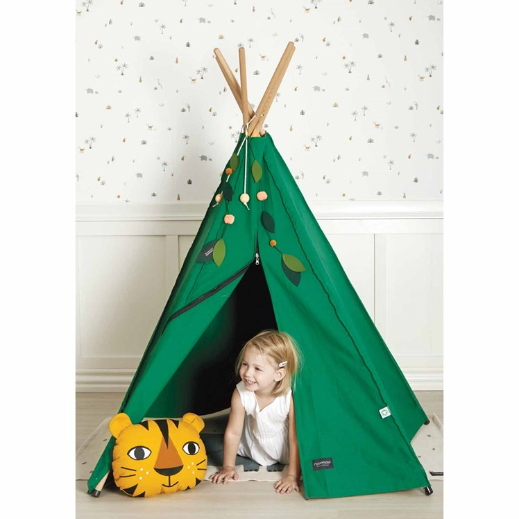 Roommate Hippie Tipi Grønn Babyshop.no