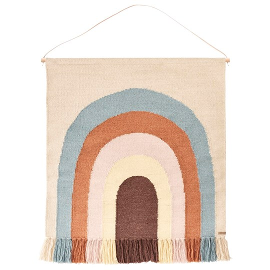 OYOY Follow The Rainbow Wall Rug Beige