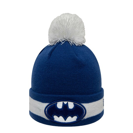New Era Batman™ Pom-Pom Beanie Blue BRYWHI