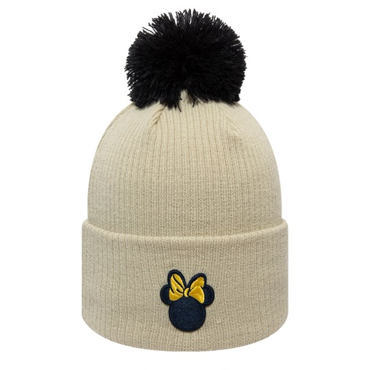New Era Minnie Mouse™ Pom-Pom Beanie Beige STNXYL