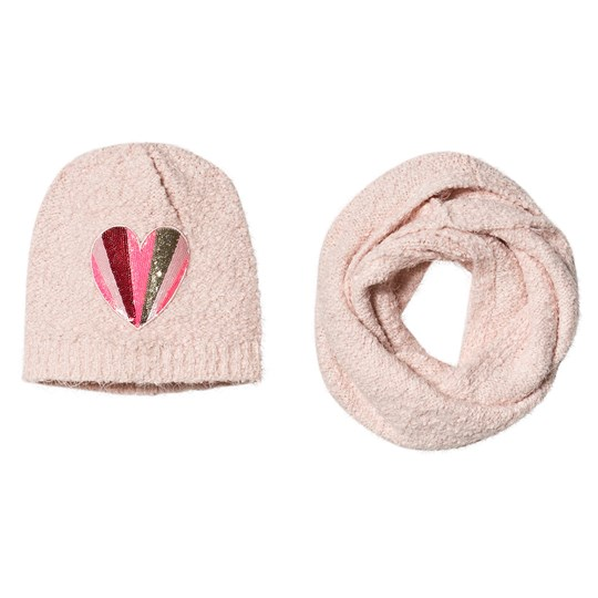 Billieblush Knit Hat and Scarf Set Pink 46F