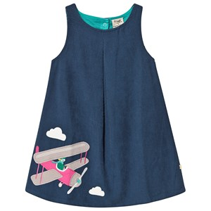 Image of Frugi Navy Organic Kjole med Airplane Applique 6-7 years (1360705)