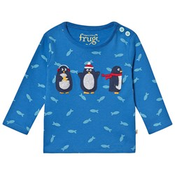 Frugi Organic Penguin and Fish Top Blue