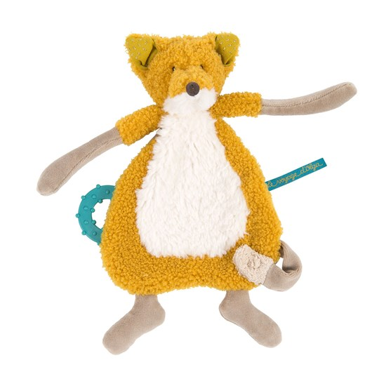 Moulin Roty Chaussette The Fox Comforter Yellow