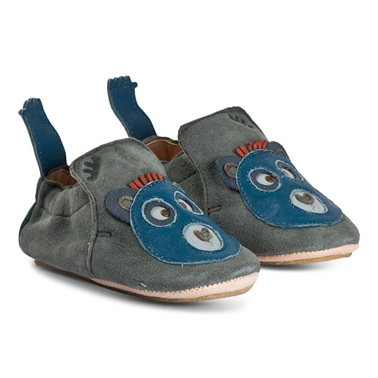Easy Peasy Blublu Bear Crib Shoes Grey 155