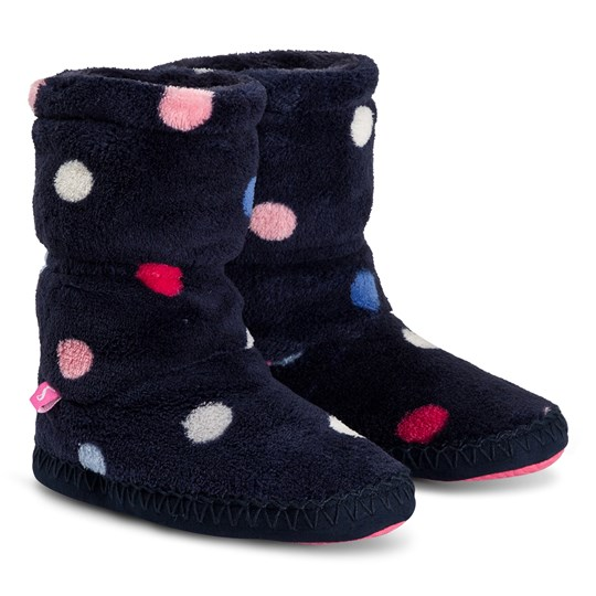 Tom Joule Fleece Padabout Slippers Boots Navy NAVY MULTI SPOT