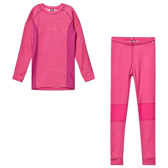 Helly Hansen Junior Lifa Merino Base Layer Set Pink 181