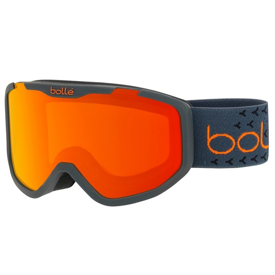 Bollé Rocket Plus Ski Goggles Matte Dark Grey/Orange Matte Dark Grey & Orange/Sunrise