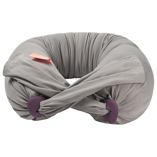 bbhugme Pregnancy & Nursing Pillow™ and Two Covers Stone/Plum Stone