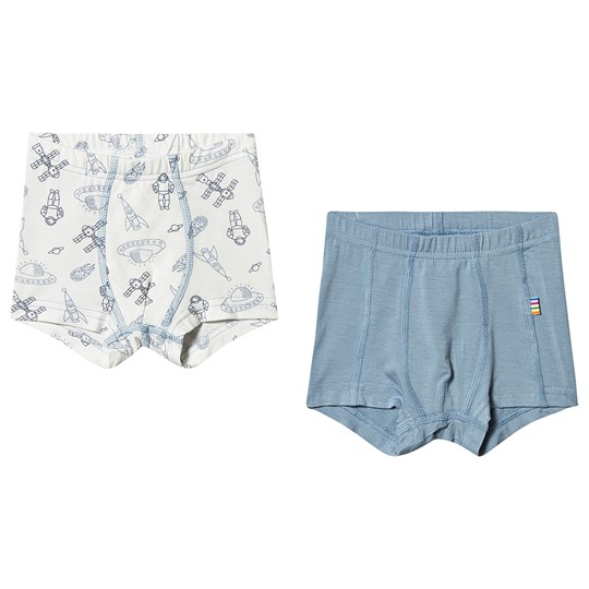 Joha Pack of 2 Space Boxer Shorts Blue SPACE
